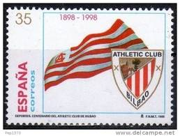 ESPAÑA 1998 - CENTENARIO DEL ATLETIC DE BILBAO - FUTBOL - Edifil Nº 3530 - Yvert Nº 3104 - Sellos
