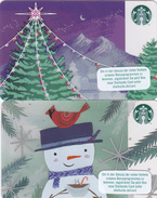 2 Gift Cards Starbucks 6141 - - -  Germany / Allemagne - - - Christmas - Gift Cards