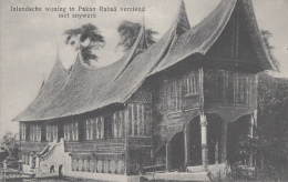 Indonésie - Indonesia - Sumatra - Inlandsche Woning Te Pakan Rabaä Verziend Met Snijwerk - Indonesia