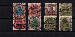! Lot Von 121 Briefmarken Deutsches Reich Mit Lochungen, Germania, Inflation 1920-1932, Perfins - Deutschland