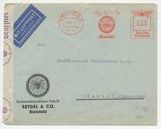 Meter Cover Deutsche Reichspost / Germany 1940 Spider - Web - Araignées