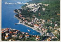 JUGOSLAVIJA POZDRAV IZ MALINSKE AIR VIEW 1973 - Yugoslavia
