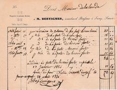 1850 - IWUY (59) - Marchand BRASSEUR - Maison M. DESVIGNES - Documents Historiques