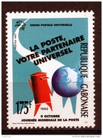Gabon, 1992, UPU, World Post Day, MNH, Michel 1126 - Gabon