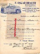 ALLEMAGNE- BUCHHOLZ- SAXE-RARE LETTRE F. OSCAR BRAUER-FABRIQUE OENEMENTS CERCUEILS-JOUET ENFANT-JOUETS-CHACHEPOTS-1912 - Old Professions