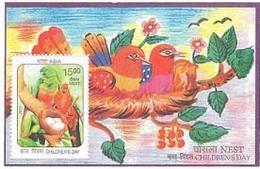 India - 2017 - Children's Day - MNH - 2 Diff MIniature Sheets. ( Bird, Bird Nest, Children Painting ) - Inde