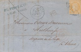 """RUPT GC 3248 LAC Pour Mulhouse Avec Entrée """"Allemagne Bussang"""" Rouge TTB. - 1870 Besetzung Von Paris"""