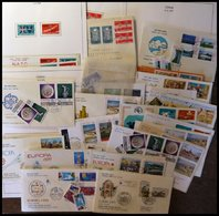 TÜRKEI Brief,o , 1959-79, Partie Von 23 Belegen, Fast Nur FDC`s, Dazu Einige Einzelmarken Und 10 FDC`s Türkisch Zypern,  - Turkey