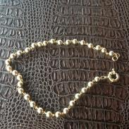 MW. 124. Collier De Perles En Fer Ou Laiton Portant La Marque AOATH - Colliers/Chaînes