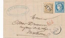 Luxeuil GC 2139 LAC Mulhouse Avec Bureau De Passe 4169 TTB. - 1871-1875 Cérès