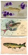 Lot De 9 Cartes Postales Sur Poisson D'avril - CPA 212 - Erster April