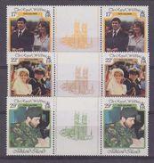 Falkland Islands 1986 Royal Wedding 3v Gutter  ** Mnh (37134B) - Falklandeilanden