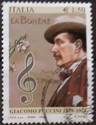 ITALIA 2008 The 150th Anniversary Of The Birth Of Giacomo Puccini. USADO - USED. - 6. 1946-.. Republic