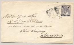Nederlands Indië - 1902 - 10 Cent Opdruk Op 10 Cent Bontkraag, Envelop G14 Van Weltevreden Naar Soerabaja - Nederlands-Indië