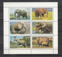 Jewish Republic,6V In Block,elephant,olifant,elefanten,éléphant,elefante,MNH/Postfris(L3214) - Olifanten