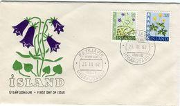 Iceland/Islande/Ijsland/Island FDC 23.III.1962 Flowers Scarce Matching Cover - FDC