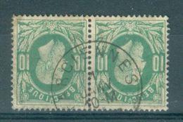 """BELGIE - OBP Nr 30 (paar/paire) - Leopold II - Cachet   """"FARCIENNES"""" - (ref. ST 608) - 1869-1883 Léopold II"""