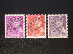 Préo   78-79-80  NEUF*   Légère Charnière - Preobliterados