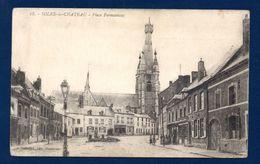 59. Solre-le-Château. Place Fermauwez. Eglise St.pierre Et St. Paul Avec Son Clocher Penché. - Solre Le Chateau