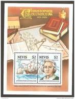 Nevis.  Christopher Columbus - Ship - Book (2) - Planten
