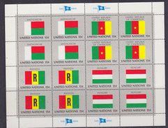 United Nations New York 1980 Flag I 4 Sheetlets ** Mnh (F6822) - Blokken & Velletjes