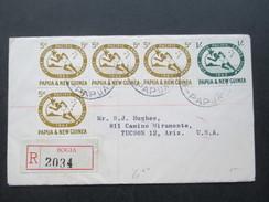 Papua & New Guinea / Neuguinea 1963 Südpazifische Sportspiele Suva / Fidschi. Nr. 50/51 MiF Nach Tucson Mit 8 Stempeln!! - Papua-Neuguinea