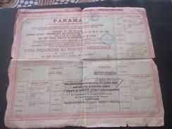 1888 Action & Titre Thème Navigation COMPAGNIE UNIVERSELLE DU CANAL INTEROCÉANIQUE DE PANAMA+FISCAL CACHET CONTRÔLE - Navy