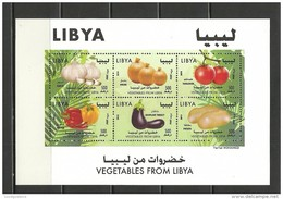 2014- Libya- Vegetables Potato Tomato Onion Pepper Garlic Agriculture – Minisheet MNH** - Agriculture