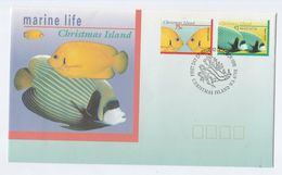 1995 CHRISTMAS ISLAND FDC FISH Stamps Cover - Fishes
