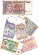 Lotto Di N.6  Banconote Di Paesi Diversi - Europa E Asia. - Monete & Banconote