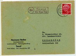 "Landpoststempel ""Tewel über Soltau (Han)"" Fernbrief Nach Osnabrück - [7] Federal Republic"