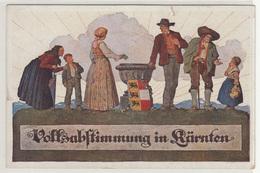 Carinthia Plebiscite Volksabstimmung In Kärtnen Propaganda Postcard 1920 Unused B171102 - Austria
