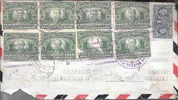 SOBRE CIRCULADO POR CORREO AEREO DE PANAMA A BUENOS AIRES ARGENTINA AÑO 1939 CON 11 TIMBRES 4 COLOURS FRANKING RARE - Panama