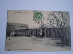 Erquelinnes // La Gare (animee) Used 1910 Ed. Longfils-Merelle - Erquelinnes