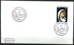"""First Day Cover Kosovo 2010 Mi.Nr.167 """"100.Geburtstag Von Mutter Teresa,Nobelpreisträgerin """"1 FDC - Mother Teresa"""