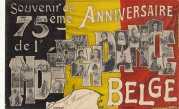 Royaume De Belgique 75 èm Anniversaire De L'indépendance Nationale - België