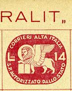 1945 - ITALIA - SERVIZI PRIVATI - Catg. UNIF.3 - Used - (BA - IBE6747) - 5. 1944-46 Lieutenance & Umberto II