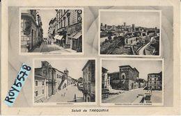 Lazio-viterbo-tarquinia Vedute Animate Saluti Da Tarquinia Anni 40 - Italia
