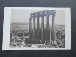 AK Echtfoto 1933 Syrien Baalbek Jupiter Tempel. Frankatur Libanon. Gesendet Nach Hamburg - Syrien