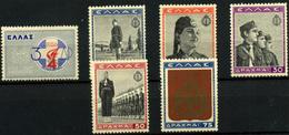Grecia Nº 452/54, 458/60. Año 1940 - Unused Stamps