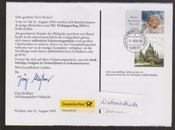 P 216) BRD Ganzsache 2005: Weiden Philatelie Zum XX. Weltjugendtag Köln, Papst - [7] République Fédérale