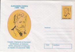 67222- ALEXANDRU CIURCU, ENGINEER, THERMAL ENGINE, SCIENCE, COVER STATIONERY, 1998, ROMANIA - Sciences