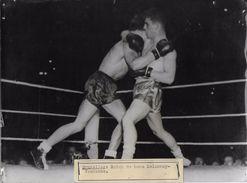 BOXE  /  MATCH / DELANNOY / VANDAMME  /  PHOTO VERITABLE KEYSTONE ANNEES 40.50 - Sports