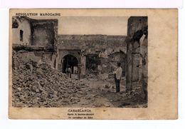 Révolution Marocaine. Casablanca. Après Le Bombardement. Un Carrefour Du Soko. (2078) - Guerres - Autres