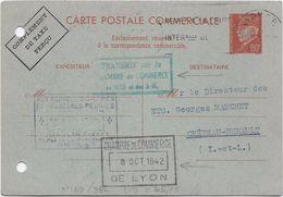France Entiers Postaux -Type Pétain 80 C Rouge - Carte Postale - Cartes Postales Types Et TSC (avant 1995)