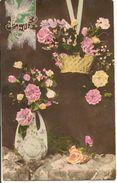 L40B016 - Bonne Fête - Beau Vase Et Joli Panier D'oeillets Et De Fleurs Diverses - N°3141 - Holidays & Celebrations