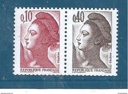 Type Liberté   De 1982 N°2179a  (paire) Neufs ** - 1982-90 Liberté De Gandon
