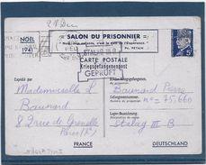 France Entiers Postaux -Type Pétain 5 Fr Bleu -  Carte Postale - Cartes Postales Types Et TSC (avant 1995)