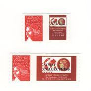 Luquet TVP Rouge RF YT 3729A + 3729Aa Personnalisés Autoadhésifs Grand + Petit Logo . Cote YT : 18 € . - Sellos Personalizados
