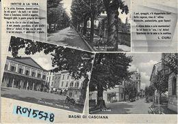 Toscana-pisa-casciana Bagni Vedute  Piazza Garibaldi Via Roma Viale Dante Alighieri Anni 40/50 (vedi Retro Pubblicita') - Italia